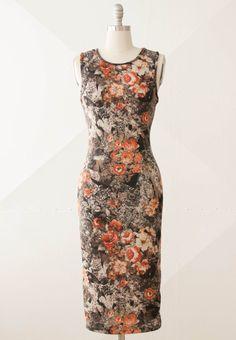 Perfectly pretty and classic fall sheath dress. #leaf #fall #sheath #classic