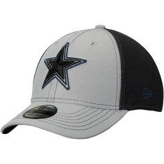 1a31cd1ed Youth Dallas Cowboys New Era Gray Graphite Sided 39THIRTY Flex Hat