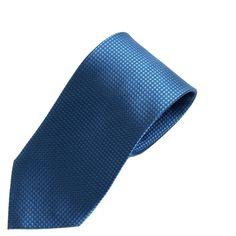 Blue Woven Grid Silk Tie