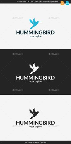 Little Hummingbird  Logo Design Template Vector #logotype Download it here: http://graphicriver.net/item/little-hummingbird-logo/10966571?s_rank=593?ref=nexion