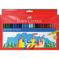 Viltstiften gekleurd 50 stuks. Set van 50 gekleurde viltstiften van goede kwaliteit. Deze viltstiften in natuur- en aardetinten zijn geschikt om te tekenen op papier, karton hout enz. en is uit de meeste stoffen uitwasbaar.