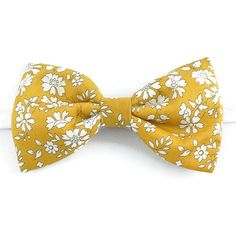 98085d31b0bb8 Noeud papillon Liberty Capel moutarde fleurs jaune moutarde mariage Noeud  Papillon Jaune, Noeud Papillon Liberty