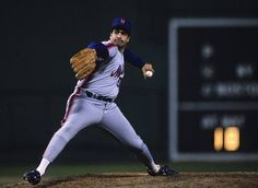 Sid Fernandez of the New York Mets pitches during Game 5 of the 1986 World Series against the Boston Red Sox in Shea Stadium on October 23 1986 in...