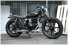 "Renegade Custom's Kawasaki Z250W - ""Redback"" - Pipeburn - Purveyors of Classic Motorcycles, Cafe Racers & Custom motorbikes"