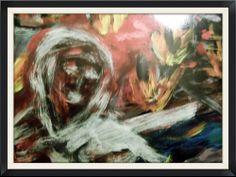 Wind of fire   Olio su cartoncino  A. Locati