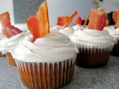 Bacon Cupcakes with Maple Frosting » Best Cupcake Pins