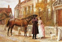 Goodbye by George Goodwin Kilburne (1839-1924)