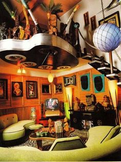 Your own ultimate Tiki Lounge living room Tiki Art, Tiki Tiki, Tiki Bar Decor, Tiki Lounge, Vintage Tiki, Tiki Room, Polynesian Culture, Googie, Mid Century Furniture