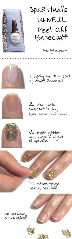 The Best Peel Off Basecoat for Glitter Polish! Before you start, be sure to click and read tips on how to get best results! @sparitualist #nails #notd #sparitual #gamechanger
