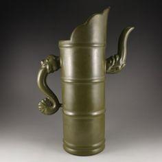 Chinese Tea Dust Glaze Porcelain Teapot 中國清代 茶末釉瓷器茶壺