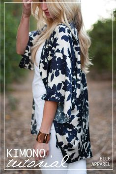 Elegant kimono with sleeves #tutorial #sewing