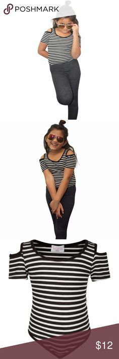Boutique - Casual Striped Bodysuit Every little girl needs certain basics in her closet, this cute summertime bodysuit is one of them.  Ready to order your today?  FEATURES:  Made in USA 97% Polyester, 3% Spandex Snap Button Bottom  Let's get your's ordered today Kura Baby Shirts & Tops Tees - Short Sleeve
