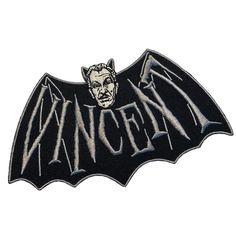 Punk Shop, Vincent Price, Iron On Embroidered Patches, Vintage Horror, Psychobilly, Movie Collection, Pin And Patches, Halloween Horror, Bat Wings