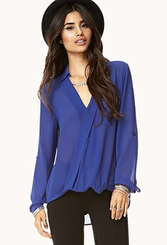 Dreamy Twisted Hem Top | FOREVER21 - 2000075947