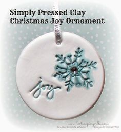 Stampin' Up! Simply Pressed Clay Christmas Ornament