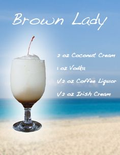 BROWN LADY - Frozen Drink Recipe #1 Drink on my list # aioutlet!