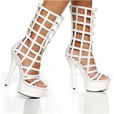 Shoespie Cut-out Solid Color Dress Sandals