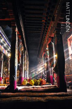 Morning Prayers - Sakya   I ♥ Sakya Monastery.
