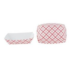 Southern Champion Tray 0405 #40 Southland Paperboard Red Check Food Tray, 6 oz Capacity (Case of 1000) $20