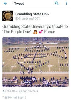 Grambling State University showing LOVE 4 PRINCE !