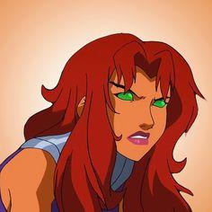 Starfire Comics, Teen Titans Starfire, Nightwing And Starfire, Teen Titans Love, Teen Titans Fanart, Dc Comics Art, Marvel Dc Comics, Diamante Rosa Steven Universe, Robin The Boy Wonder