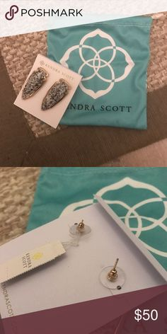 Bent backing Kendra Scott earrings Price is firm even if bundled. Backings are bent. See picture. Price is firm Kendra Scott Jewelry