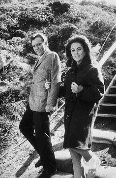 "Richard Burton & Elizabeth Taylor, in the 1965 film ""The Sandpiper"""