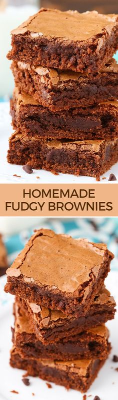 Homemade Fudgy Brownies - the best and so easy to make!