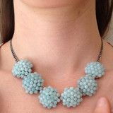 NECKLACE in Hand-Woven Turquoise Bloom - New York States of Mind