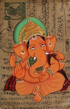 Ganesh Gufa, where Lord Ganpati wrote the Mahabharata Ganesha Painting, Ganesha Art, Lord Ganesha, Ganesh Tattoo, Indian Gods, Indian Art, Om Gam Ganapataye Namaha, The Magic Faraway Tree, Sri Ganesh