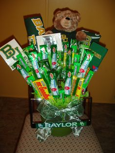#Baylor Bears Candy Bouquet