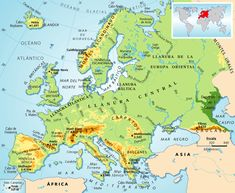 Mapa físico de Europa Norton Internet Security, Management, Journey, Explore, Learning, World, Travel, Google, Ss