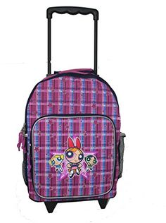 New Powerpuff Girl Rolling Backpack >>> Find out more about the great product at the image link.