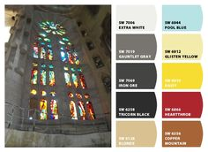 #chipit - Barcelona Sagrada Familia - September 2010 - Paint colors from Chip It! by Sherwin-Williams. Repin via: @Youssef Muslimani