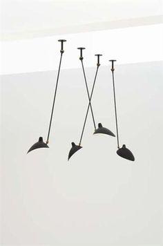 Adjustable ceiling lights, Manufactured by Atelier Serge Mouille, France, Designed by Serge Mouille, c.1950