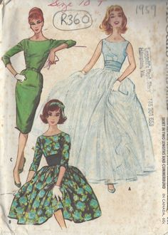 1959 Vintage Sewing Pattern B30