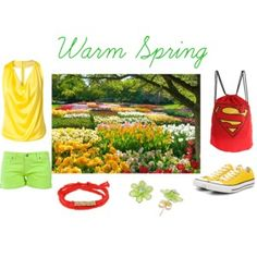 Warm spring outfit