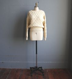 vintage fisherman's sweater / woman's wool sweater / by GazeboTree, $42.00