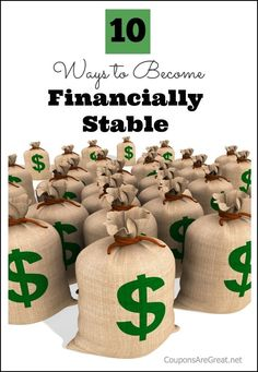 - 10 Ways to Become Financially Stable!!!! personal finance resources, personal finance tips #PF
