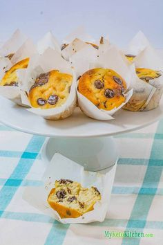Low carb choc chip muffins