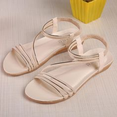 2ad04da7 [Visit to Buy] Women Flat Shoes Fashion Bohemia Leisure Lady Sandals  Outdoor Shoes Elastic