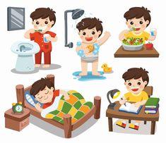 Daily Routine Kids, Kids Routine Chart, Morning Routine Kids, Daily Routine Activities, Classroom Schedule Cards, Kids Schedule, Montessori Activities, Fun Activities, Kinder Routine-chart