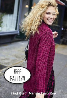Nana K found another fabulous FREE crochet pattern for the spring cardigan. Easy to make crochet cardigan is perfect for spring. Women's cardigan crochet pattern. Crochet Baby, Free Crochet, Knit Crochet, Crochet Cardigan Pattern, Sweater Knitting Patterns, Summer Patterns, Crochet Patterns For Beginners, Quilt Patterns Free, Free Pattern