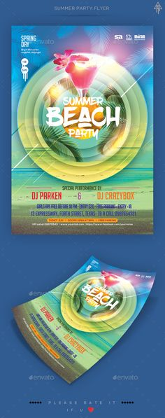 Summer Party Flyer Template PSD. Download here: http://graphicriver.net/item/summer-party-flyer/15676336?ref=ksioks