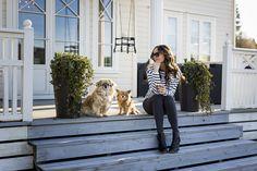 Stripes and ankle boots // Caroline Berg Eriksen