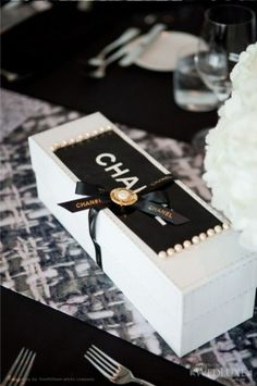 Luxury gifts from Chanel Bridal Shower Favors, Wedding Favors, Bridal Showers, Style Blog, Mademoiselle Coco Chanel, Bijou Box, Chanel Party, Chanel Wedding, Luxe Life