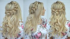 How to: Half Up Pull Through Braid