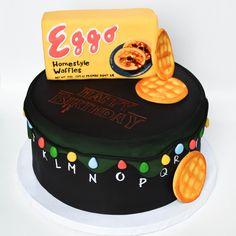 stranger things themed cake