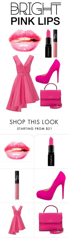 """""""pinky"""" by terry-mae on Polyvore featuring beauty, Smashbox, NARS Cosmetics, Brian Atwood, Christian V Siriano, Kate Spade, Pink and pinklips"""