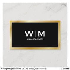 Monogram | Executive Gold Business Card Lawyer Business Card, Gold Business Card, Cotton Texture, Professional Business Cards, Paper Texture, Presentation, Things To Come, Monogram, Corporate Executive